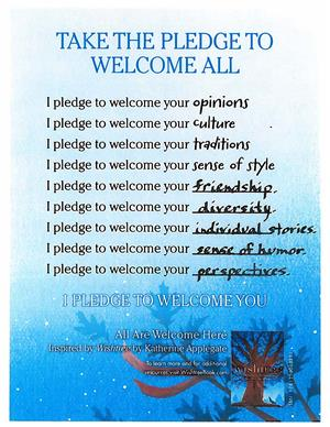 welcome pledge