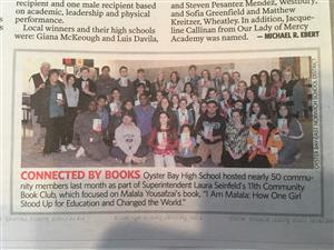 Community Book Club is featured in Newsday