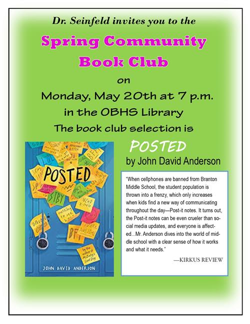 spring 2019 community book club flyer