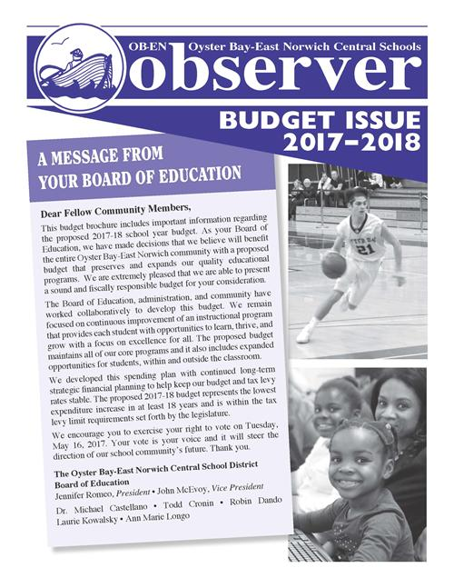 the 17-18 Budget Brochure