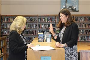 Dr. Laura Seinfeld is sworn in as superintendent