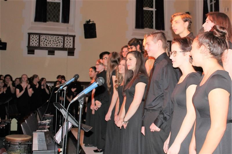 The Chamber Singers get a standing ovation