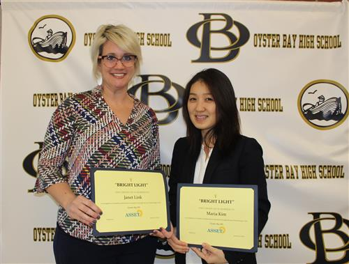 Janet Link and Maria Kim were honored for their leadership in instructional technology