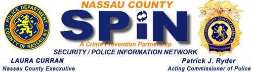 Nassau County Police SPIN notification graphic