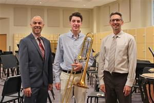 thomas Fletcher all state musician with Anthony Femino and Matt Sisia