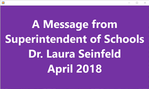Graphic of Superintendent's video message