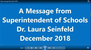 graphic for Dr. Seinfeld's December message