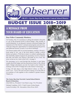 first page of budget brochure