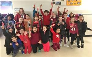 Ms. Friedman's class won the multiplication superbowl