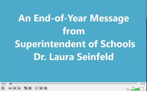 Graphic for superintendent's monthly message for June