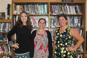 new teachers Heather Russell, Alison Chechakos and Emily Ann Powell