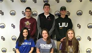 six seniors sommit to playing college sports