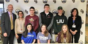 athletes commit to college teams