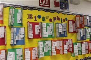 biographies on bulletin boards