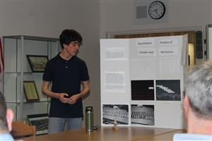 Thomas Coor presents research on double-reed harmonics