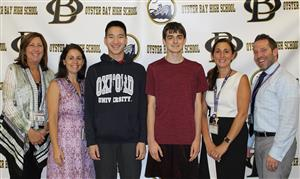 valedictorian Jason Hom and Salutatorian Michael Biggiani