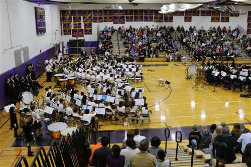 Cavalcade of Bands in the OBHS Gym
