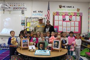Ms. Siracusano's kindergarten class celebrated Theodore Roosevelt's birthday