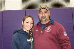 Adrianna and her dad who was in the military