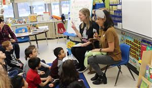 parents read at PARP Read-In