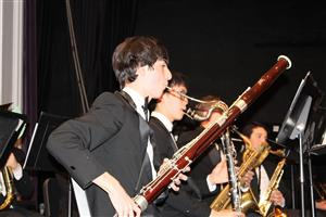 wind ensemble at winter concert 2017