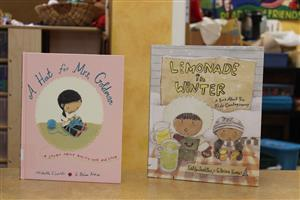 A Hat for Mrs. Goldman and Lemonade in Winter were two books featured in a readers' theater
