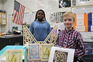 Atlantis students display their independent study projects