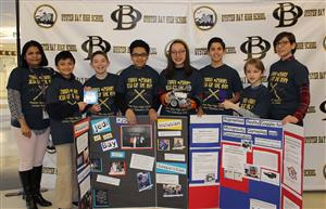 lego robotics team with their awards