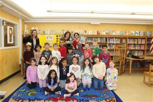 Author visit with Roosevelt students