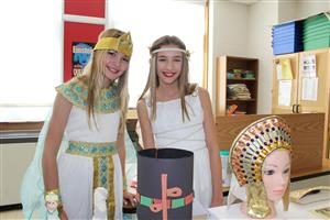 students dressed as Ancient figures