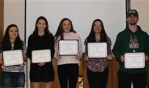 students who participated in the LI Media Arts Show get certificates