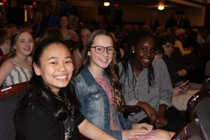 new NJHS members are all smiles.