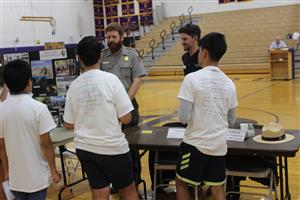 students learn about National Parks jobs at career day