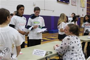 Students learn about advertising at career day