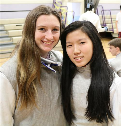 "When asked about his choice, Fencing Coach John Bruckner said, ""The Girls' Fencing Team's Athletes of the Month are Jodi Yeh"