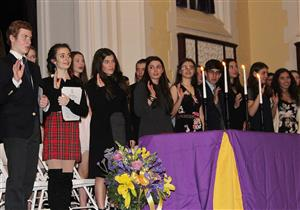 National Honor Society inductees take pledge