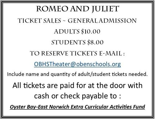R and J ticket info