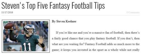 Steven Keehner Article