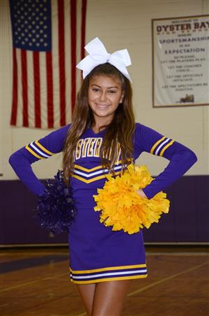 Athlete of the Month for Cheerleading is Sydney Munoz