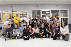 groups shot of teachers and students who participated in the exercise science project