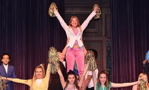 a scene from HS musical, Legally Blonde
