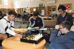 library chess game