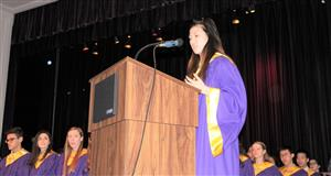 NHS President at podium
