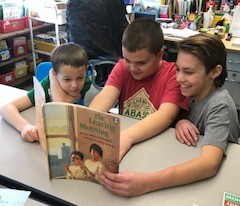older students read to younger students