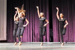Rhythmology Dance Team performs