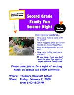 science fun night flyer