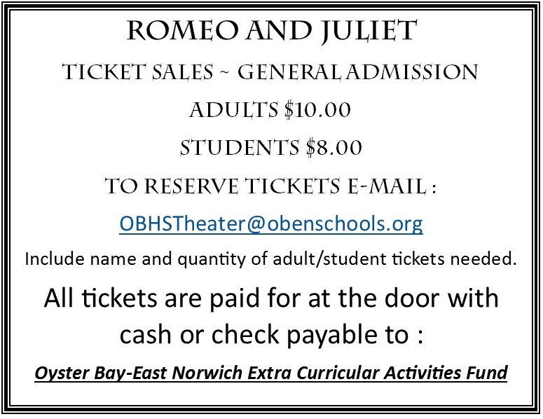 Romeo and Juliet ticket sales