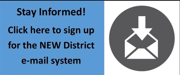 Stay Informed - Sign Up Here for the NEW District email system