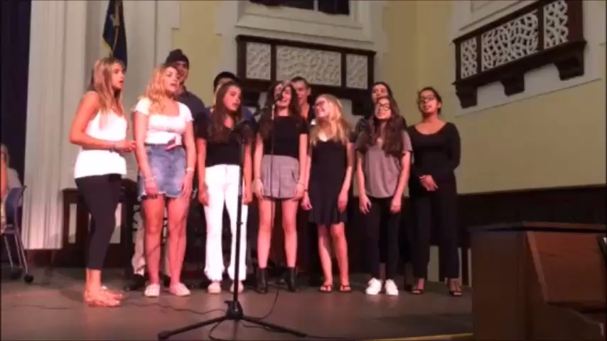 "The OBHS Chamber Singers sing Billy Joel's ""Oyster Bay"""
