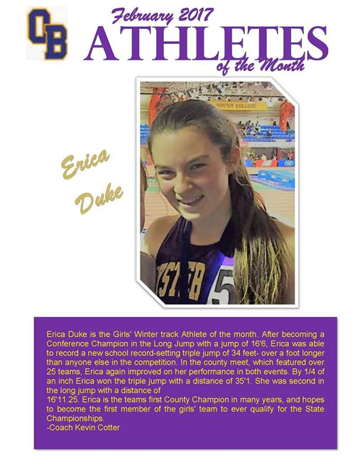 Athlete of the Month - February 2017